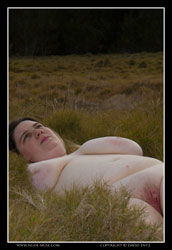 claire-r nude in the grass