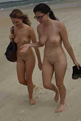 evelyn and pienni nude beach walk video