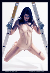 layla nude on ladder