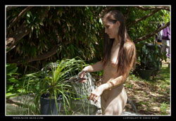 angela naked gardening day video