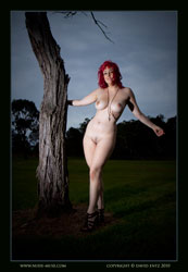 eden nude by tree