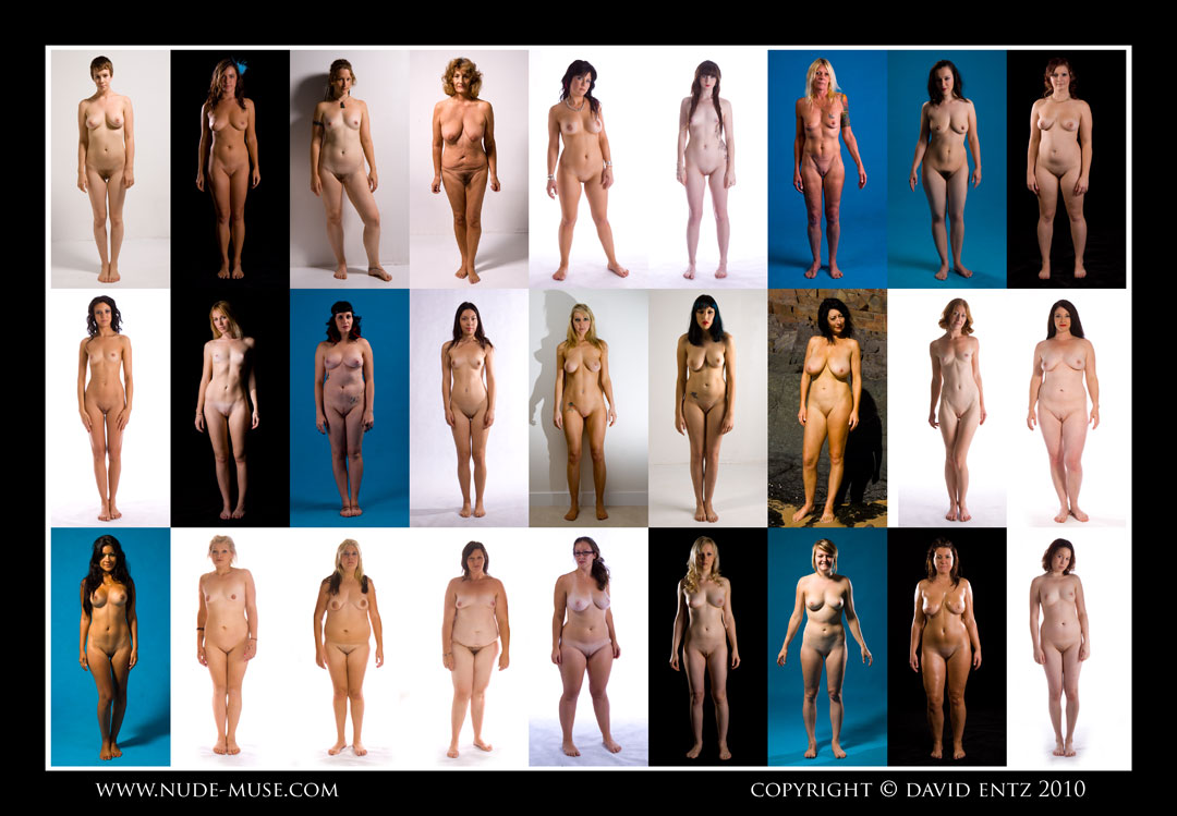 standing Nude together women