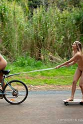 cassy and elly nude fun