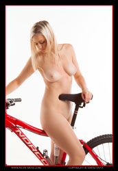 charlie-v nude with bicycle
